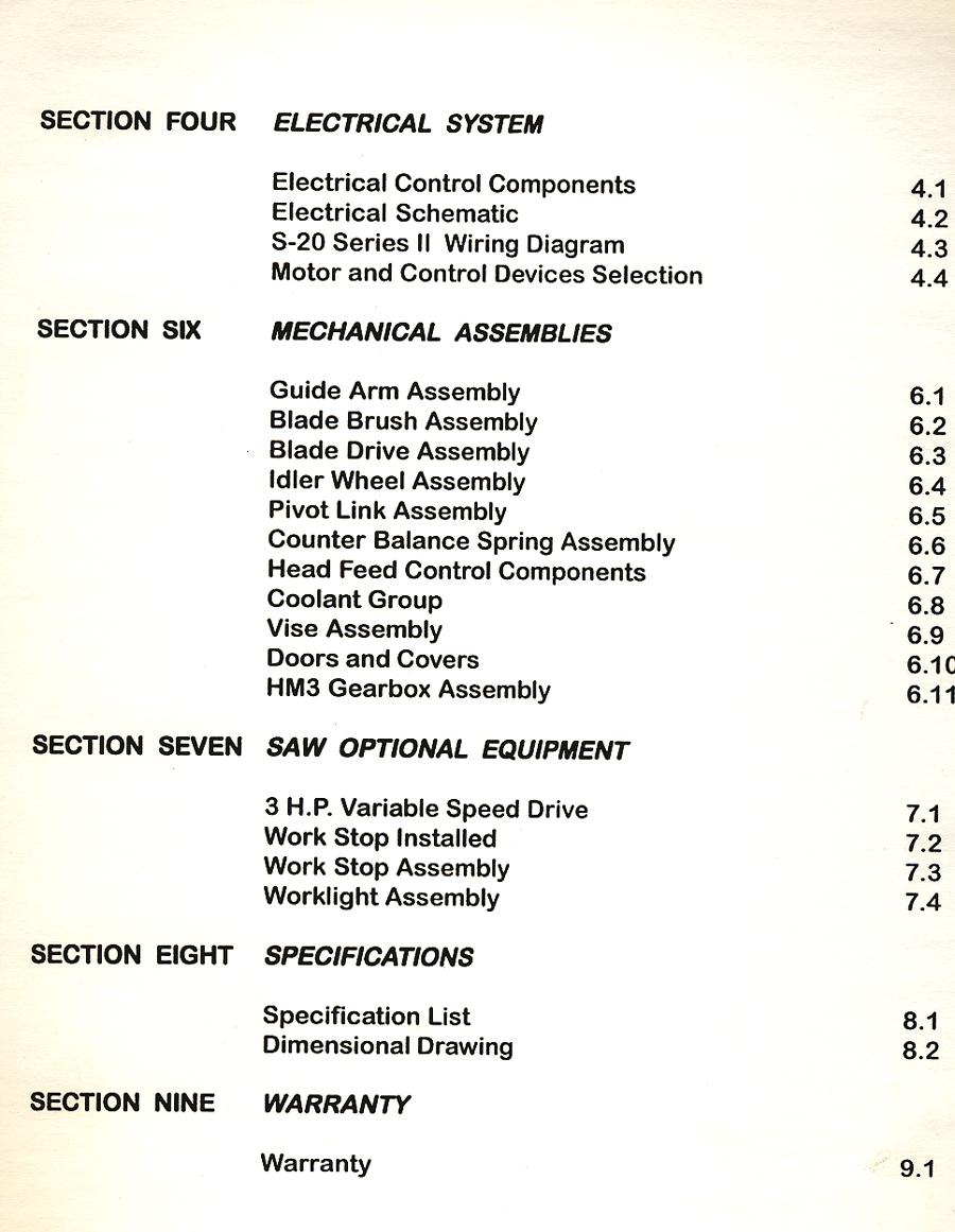 Hyd Mech S 20 Horizontal Bandsaw Complete Manual Ebay