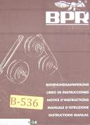 BPR Curvatrici, Eagle Bender CP30P, Universal Bending Roll, Operations Manual