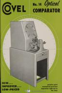 Covel Instruction Parts No. 14 Optical Comparator Manual