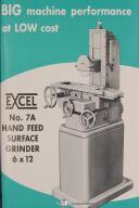 Covel Operators Instruction Parts No. 7A 6 x 12 Surface Grinder Machine Manual