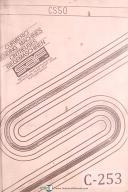 Curvatrici CS50 Bending Machine Operations Manual Year (1986)