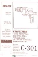 Craftsman 315.271430, Electric Drill, Operation, Maintenance and Parts Manual