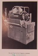 CVA No. 8, K&T, Single Spindle Automatic Machine, Tools and Tooling Tech. Manual