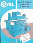 Covel No. 35A & 50, Surface Grinders, Installation Operations Parts Manual 1947