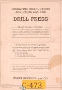 Craftsman Sears 103.23141, Drill Press, Operations and Parts Manual Year (1951)