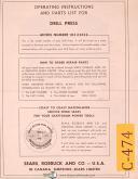 Craftsman Sears 103.23622, Drill Press, Operations and Parts Manual Year (1951)