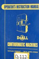DoAll Contourmatic Operators Instuction Mdl 26-3-60-3 Machine Manual