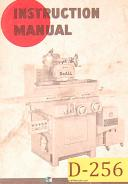Doall D-6, D-8 and D-10, Surface Grinde, Install, Operation & Maint Manual 1964
