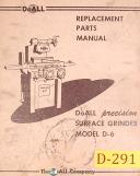 Doall D-6, Surface Grinder, REplacement Parts Manual Year (1961)