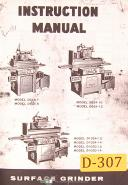 Doall D-824, 624 618 1024 1030, Surface Grinder, Instruction Manual Year (1967)