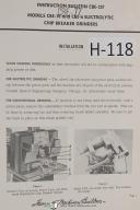 Hammond Instruction Bulletin CBE-257 Electrolytic Chip Breaker Grinder Manual