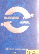 Mazak Power Center V-12, Fanuc 6M, Maintenance and Parts List Manual Year (1980)