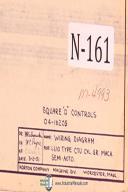 Norton 6 & 10 Type CTU Cylindrical Grinding Machine Wiring Schematic Year 1951